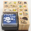 Rubber stamps, 14 pieces, (ZYZ095)
